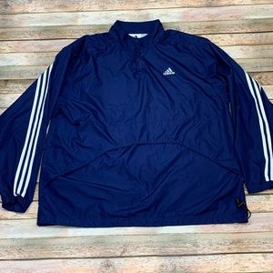 Vintage Adidas Windbreaker Vented Blue White XL